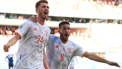 Spanien öste in mål på löpande band.