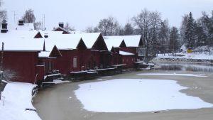 Srandbodar i Borgå på vintern