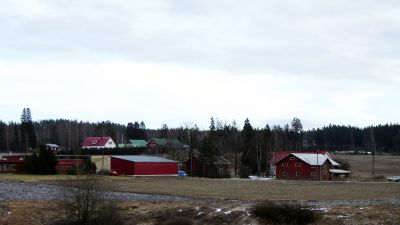 Liten by på landsbygden