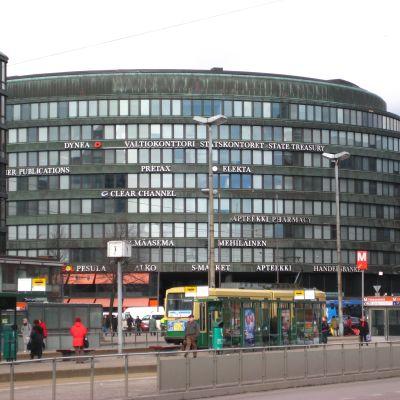 Runda huset vid Hagnäs torg i Helsingfors.