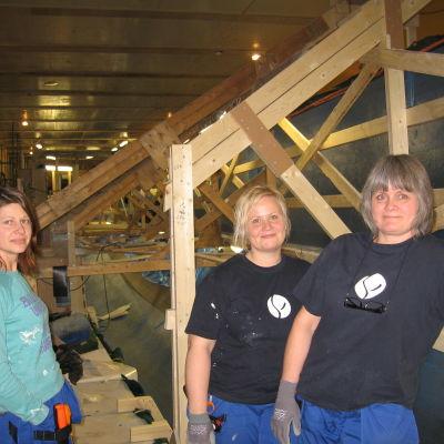 Gunilla Sundqvist, Johanna Forsman och May Hägg är nyanställda på Baltic Yachts