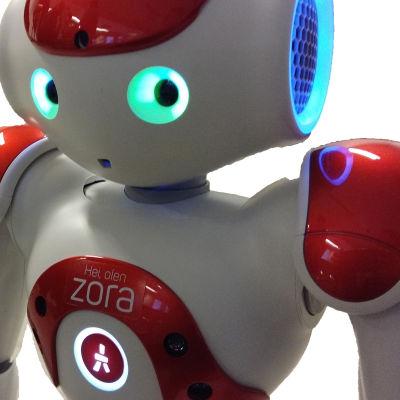 Robot med lysande ögon