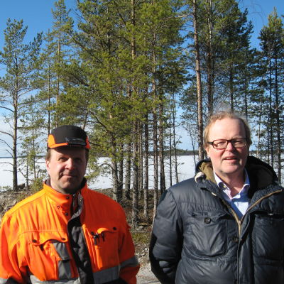 Terminalchef Johan Österbacka och stadsdirektör Gösta Willman