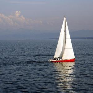 Segelbåt på havet.