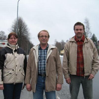 Sannfinländarna Sari Karlström, Jaakko Tamminen och Kari Lindberg.