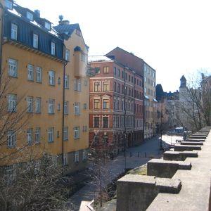 Hus i Kronohagen i Helsingfors.