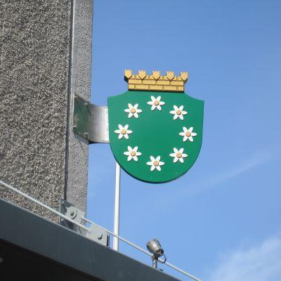 Kommunvapen för Raseborgs stad.