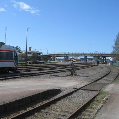 Bangården i Hangö.