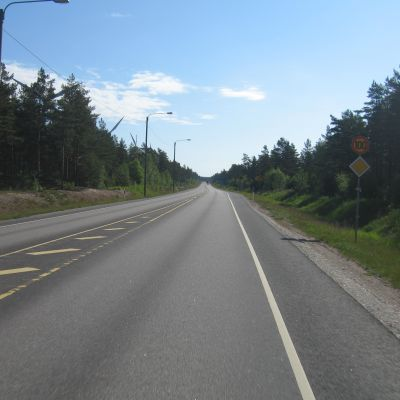 Riksväg 25 i Hangö.