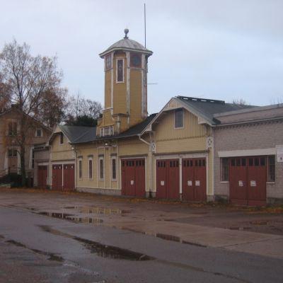 Gamla brandstationen i Hangö.