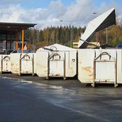 sopor vid Munka avfallscentral