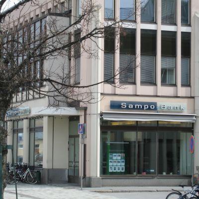 Sampo Banks kontor vid gågatan i Jakobstad stängs 29 juni