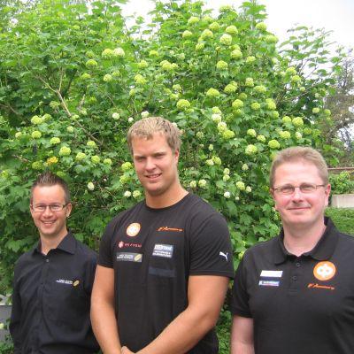 Albin Söderström (fr.v.), Tomas Söderlund och Glenn Lignell.