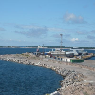 Engelska  och smörmagasinet i Västra hamnen i Hangö.