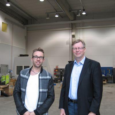 vd Saul Mäenpää och placeringsdirektör Sören Björkgård