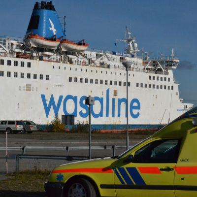 Räddningsövning ombord på Wasa Express