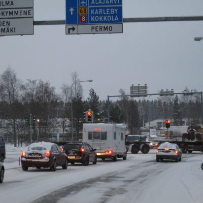 Korsningen Kållbyvägen - Nordanvägen i Jakobstad