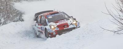 Kallen Rovanperä kör i Rovaniemi 2021.