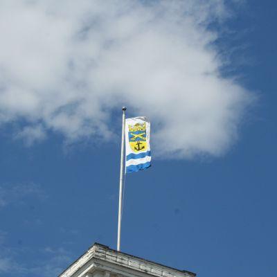 Lovisa stads flagga