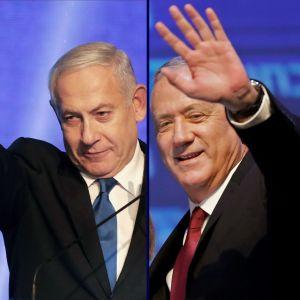 Benjamin Netanyahu och Benny Gantz