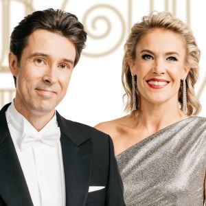 Jussi-Pekka Rantanen ja Ella Kanninen juontavat Linnan juhlat.