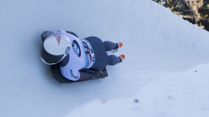 Kendall Wesenberg vid världscupen i St. Moritz 2017.
