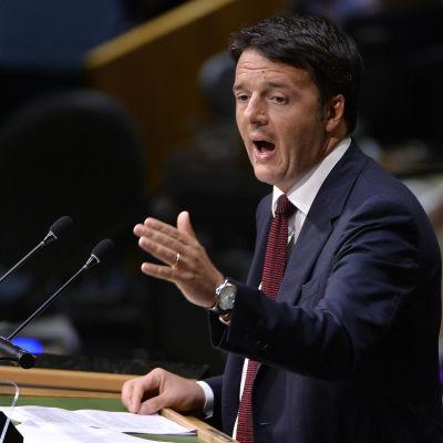 Italiens premiärminister Matteo Renzi i New York den 29 september 2015.