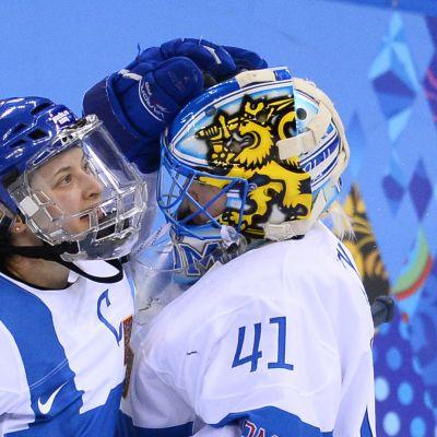 Jenni Hiirikoski och Noora Räty, OS 2014