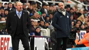 Rafael Benitez och Pep Guardiola.
