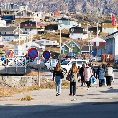 Yleiskuvaa Grönlannin Nuukista