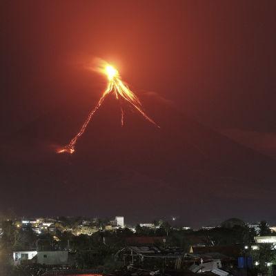 Vulkanen Mayon på Filippinerna.