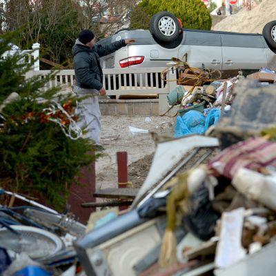 Orkanen Sandys framfart i New York var förskräcklig.