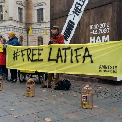 demonstration för Latifa Al Maktoum