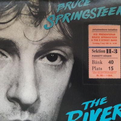 The River skivan med inträdesbiljett till konsert på Johanneshov i Stockholm 1981.