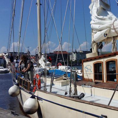 Segelfartygsstiftelsens ungdomssegling mot Stockholm sommaren 2016.