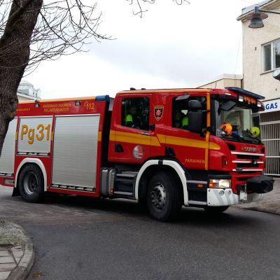 Brandbil i Pargas