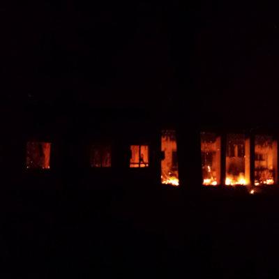 Bombat sjukhus i Kunduz.