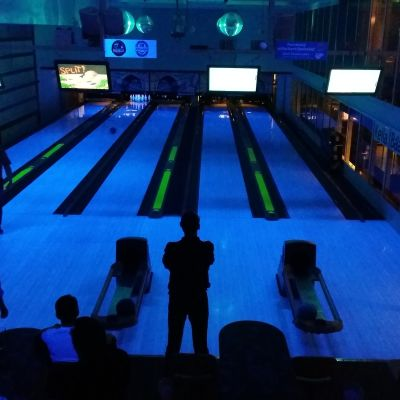 Bowling på Kiitorata i Åbo.