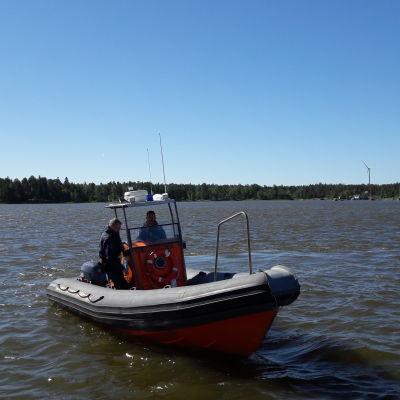 Polisens nya RIB-båt i Vasa.