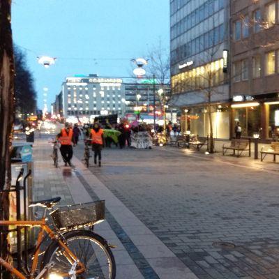 Feministmarsch i Åbo.