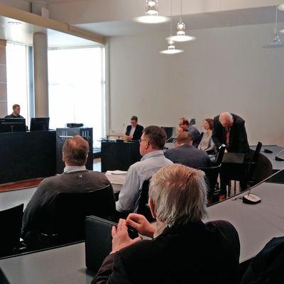 Lahjusoikeudenkäynti Pohjanmaan käräjäoikeudessa 7. maaliskuuta 2018.