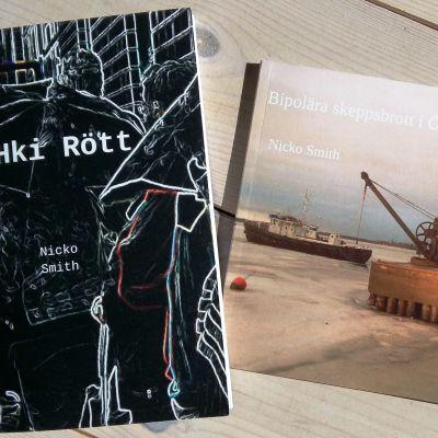 Två diktsamlingar av poeten Nicko Smith.