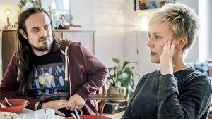 Markus Koivisto & Linn Wilhelmsson intervjuas