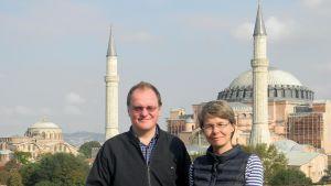 torsten och tua sandell hagia sofia i istanbul, turkiet
