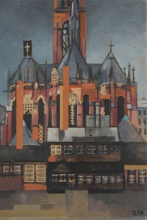 Jeanne Mammen. Kirche am Winterfeldtplatz (Kyrkan vid Winterfeldttorg i Berlin), 1935-1940