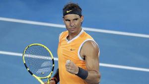 Spaniens Rafael Nadal är semifinalklar i Melbourne