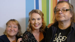 Riikka Rahi, Heidi Puurula ja Kalevi Pollari Levylautakunnassa