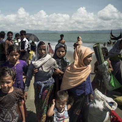 Rohingyer som flytt från Burma till Bangladesh.