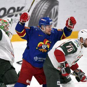 Jokerit spelade mpt AK Bars Kazan i KHL