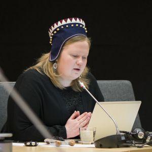 Saamelaiskäräjien puheenjohtaja Tiina Sanila-Aikio